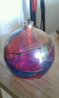 red and blue glass vase Victoria, V8W 2G5
