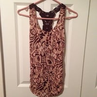 women's brown and white floral sleeveless top Surrey, V3R 5Y7