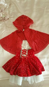 Little red riding hood costume 5-6 ys $10