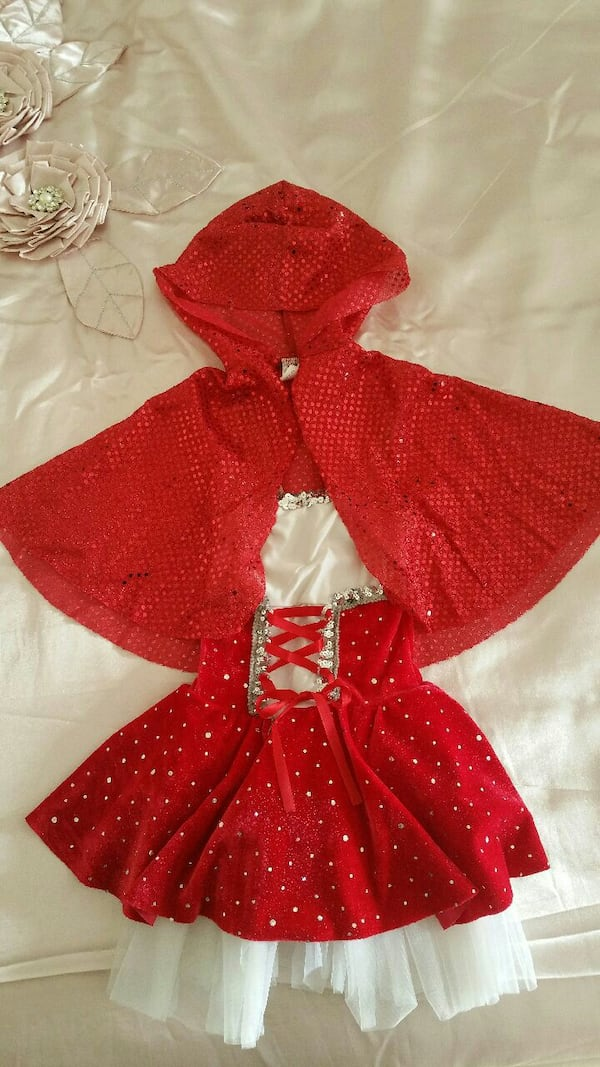 Little red riding hood costume 5-6 ys $10 0