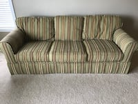Couch with striped fabric - 3-seat sofa Parkton, 21120