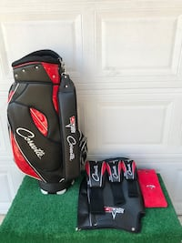 Corvette Golf Cart Bag with Corvette Head Covers and Towel