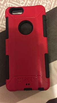 red and black Trident iPhone case