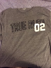 """Men's Grey True Religion """"Only The Strong Survive"""" T-shirt! Vancouver, V5W 1H9"""