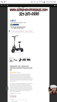 Uberscoot 1600w 48v Electric Scooter (PTV) Port St. Lucie, 34953