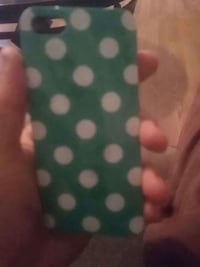 white and green polka dot iPhone case Marion, 46953