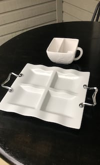 Platter and sauce bowl