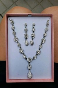 Silver diamond jewelry set  Brampton