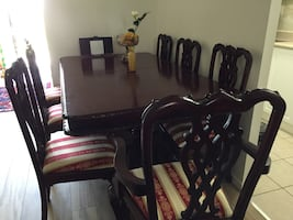 Antique Chippendale dining room set