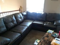 Leather sectional 590 mi