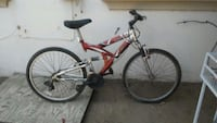 red and gray full-suspension bike Fresno, 93701