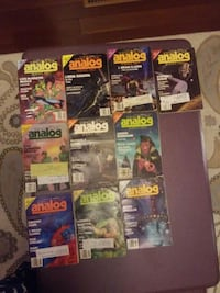 10 issues of 1989 Analog fact fiction paperback