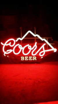 white and red Coors Light neon signage Albuquerque, 87114