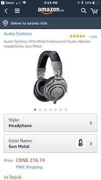 Audio Technical Professional Headphones NEW Toronto, M6M 5A2