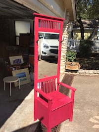 Beautiful red hall tree w/ mirror and compartment — $160 OBO Horseshoe Bay, 78657