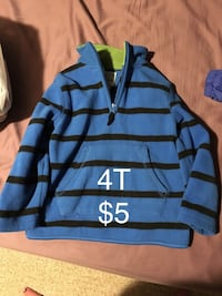 blue and black striped long-sleeved shirt Red Deer, T4P 1B7