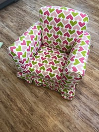 green and white floral fabric sofa chair Rockaway, 07866