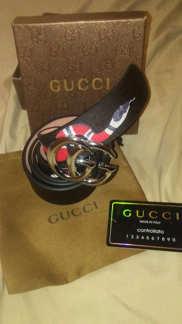 ec03a88ec29 Used black Gucci snake print leather belt for sale in Tennessee - letgo