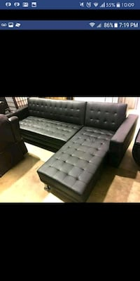 Brand New black Sectional Sofa Austin