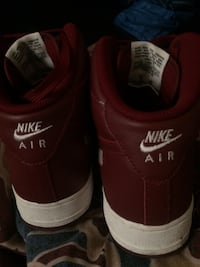 Red white Air Force ones worn twice  Delta, V4C