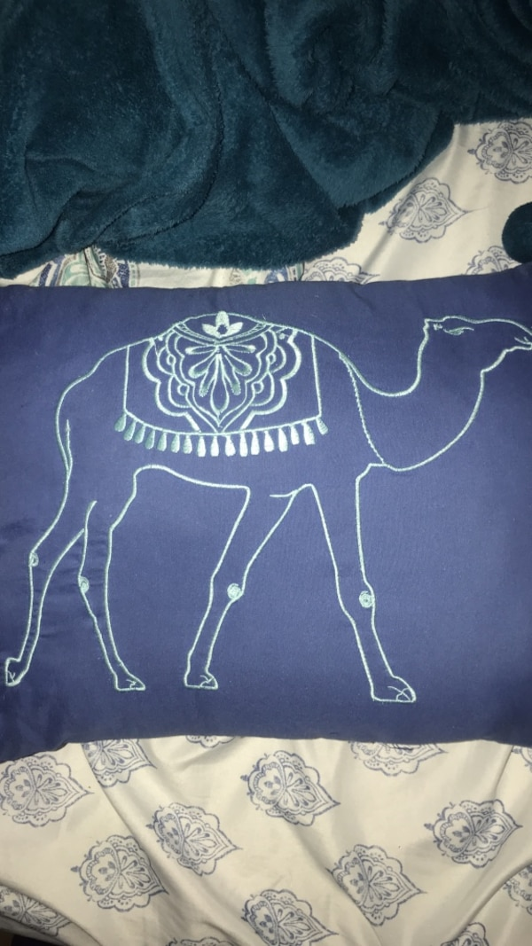 5d945c77c2 Used blue and white camel print pillow for sale in Port Richey