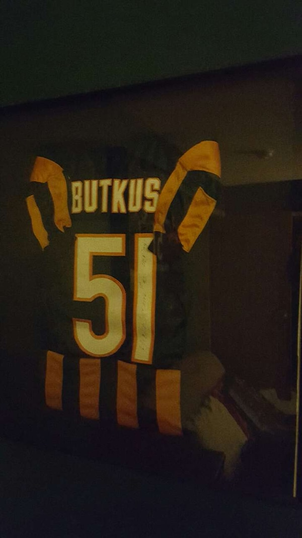 online store 15f2b 1e4fc Framed/autographed Dick Butkus throwback jersey