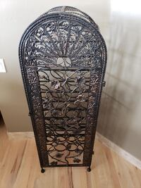 43 bottle vintage decorative bronze winerack Albuquerque
