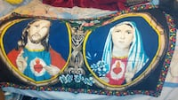 Jesus Christ and Mary printed textile
