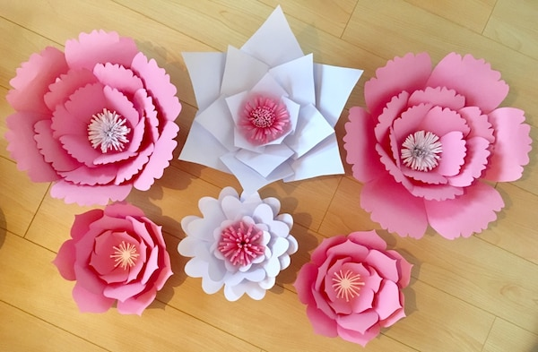 Used Paper Flower Wall Decor For Sale In Pickering Letgo