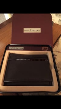 Men's black leather wallet Norfolk, 23513