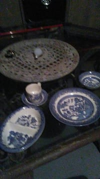 Blue Willow Ware by Churchill England service for