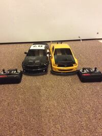 Police car and gtr remote control cars (*one remote needs antenna*)