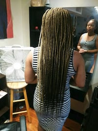 Hair styling box braids Hyattsville