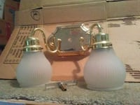 two gray and white table lamps Midlothian, 23112