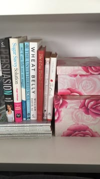 Books $4 each - floral boxes both for $8 Toronto, M8V 1A4