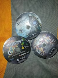 two Sony PS3 game discs