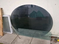 Black glass table top 5 feet X 46 1/2 inches. Very thick and heavy  Calgary, T2K 3Z1