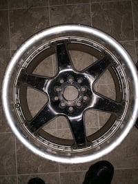 3 good rims 1 needs to be welded and cleaned Trenton, 08609