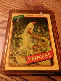 Autographed 1979 Ron Guidry card #300 Watertown, 13601