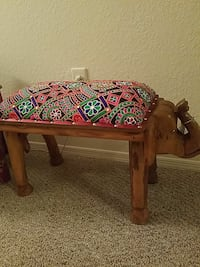 brown wooden elephant bench Casselberry, 32707