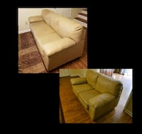 Fantastic Used Leather Sofa Loveseat Combo For Sale In Roswell Letgo Dailytribune Chair Design For Home Dailytribuneorg