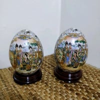Pair of handpainted vintage Porcelain eggs Toronto, M2J 2C2