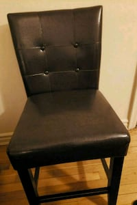 black leather padded armless chair White Plains, 10605