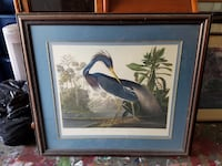 blue and white bird painting with brown frame Glendale, 91208