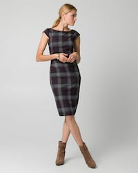 Women's Check Print Viscose Blend Shift Dress..