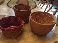 two brown wicker basket and bowl Myersville, 21773