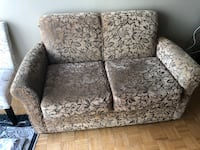 gray and black floral print loveseat Whitby