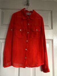 Girls Orange Blouse Size 8 Toronto, M9N 3X8