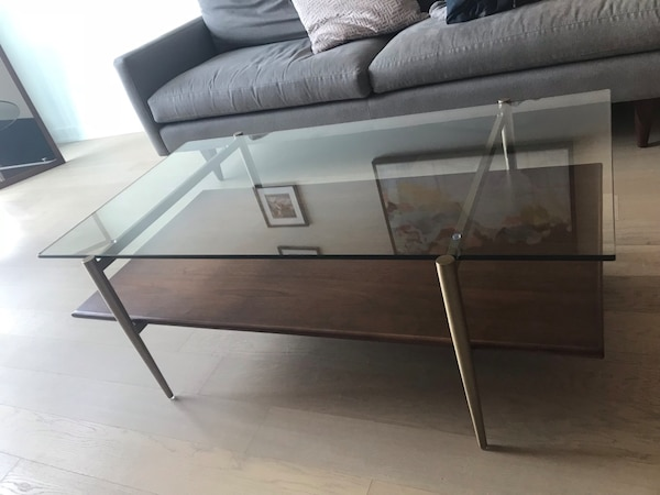 Mid century art display coffee table - west elm