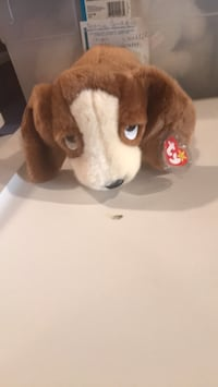 Brown and white dog plush toy Indio, 92201
